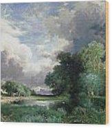 Landscape With A Bridge Wood Print
