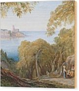 Landscape With View Of Lerici Wood Print