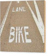 Lane Bike Wood Print by Jenny Senra Pampin