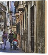 Lane In Palma De Majorca Spain Wood Print