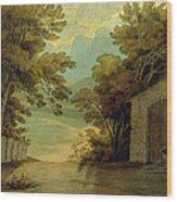 Langdale Pikes Wood Print