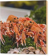 Langoustines At The Market Wood Print