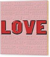 Language Of Love 4 Wood Print