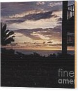 Lani Sunset Mauai Wood Print