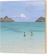 Lanikai Beach Of Oahu Wood Print
