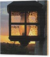 Lantern In The Sunset Wood Print