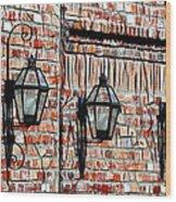 Lanterns In The Courtyard Wood Print