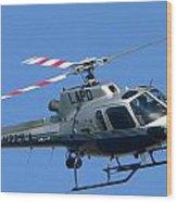 Lapd Aerial Chopper Wood Print