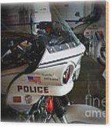 Lapd Motorcycle Wood Print