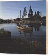 Laraquete Fishing Village In Chile Wood Print
