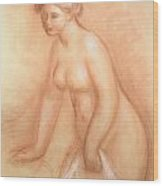Large Bather Wood Print