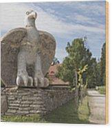 Large Bird Statuary Wood Print