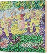 Large Bubbly Sunday On La Grande Jatte Wood Print