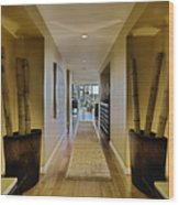 Large Hallway In Upscale Residence Wood Print by Andersen Ross