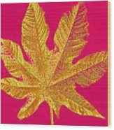 Large Leaf Photoart Wood Print