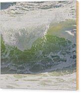 Large Waves On The Coast Of Maine Wood Print
