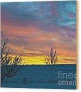 Larimer County Winter Sunrise Wood Print by Harry Strharsky