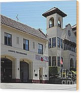 Larkspur Fire Department And City Hall - Larkspur California - 5d18502 Wood Print