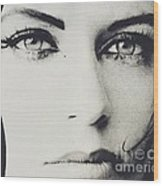 Laroe Eyes 90 Wood Print