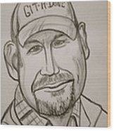 Larry The Cable Guy Wood Print