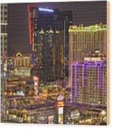 Las Vegas Nevada Wood Print by Nicholas  Grunas