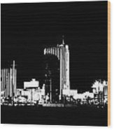 Las Vegas Nights Wood Print