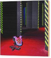 Laser Game Playing Space With Walls Wood Print by Corepics
