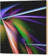 Laser Light Show Wood Print