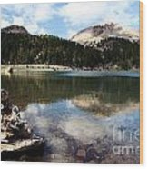 Lassen Mountain Lakes Wood Print