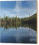 Lassen Summit Lake Reflections Wood Print