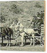 Last Deadwood Coach 1890 Wood Print