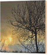 Last Light In The Storm Wood Print