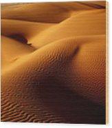 Last Light In The Ubari Sand Sea, Libyan Sahara Wood Print