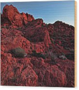 Last Light In Valley Of Fire Wood Print