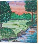 Last Light Wood Print by Jeanette Stewart