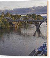 Last Light On Caveman Bridge Wood Print