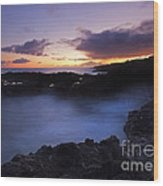 Last Light Over The South Shore Wood Print