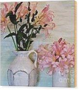 Last Of My Lilies Wood Print by Marsha Heiken
