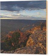 Last Rays At Grand Canyon Wood Print