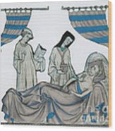Last Rites, Middle Ages Wood Print