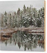 Last Snow Wood Print