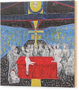 Last Supper The Reunion Wood Print