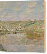 Late Afternoon - Vetheuil Wood Print