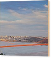 Late Evening Over San Francisco Wood Print