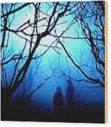 Late Full Moon Walk In The Wild Forest Wood Print