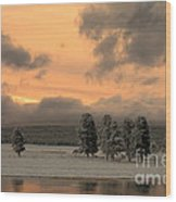Late Spring Storm In Yellowstone Wood Print