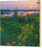 Late Summer Lake Wood Print