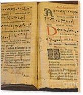 Latin Hymnal 1700 Ad Wood Print