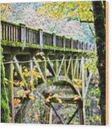 Latourel Creek Bridge Wood Print