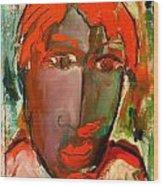 Laubar Face Adele Wood Print